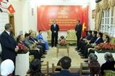 Le président Trân Dai Quang visite l'ambassade du Vietnam en Égypte