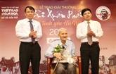Prix Bùi Xuân Phai: Nguyên Ba Dam reçoit le Grand Prix