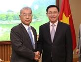Le vice-PM Vuong Dinh Huê reçoit un dirigeant du groupe japonais Mitsubishi
