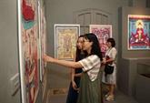 Hanoï: exposition de peintures folkloriques du Vietnam