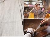 Hanoï: tissage de la soie à partir de fibres de lotus