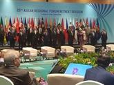 L'ARF souligne l'édification de la confiance et la diplomatie préventive