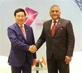 AMM 51: Pham Binh Minh a des rencontres bilatérales à Singapour