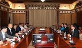 Une délégation la Chambre de Commerce et d'Industrie du Japon à Hô Chi Minh-Ville