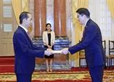 Le président Trân Dai Quang reçoit de nouveaux ambassadeurs étrangers