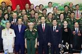 Le président Tran Dai Quang exhorte les vétérans à s'engager sur le front socio-économique