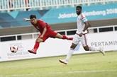ASIAD 2018 - Football: le Vietnam à côté de son rêve