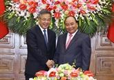 Le Premier ministre vietnamien reçoit un vice-Premier ministre chinois