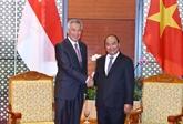 Le Premier ministre vietnamien reçoit son homologue singapourien à Hanoï