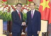 Le président Trân Dai Quang reçoit le ministre japonais des Affaires étrangères