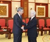 Le chef du PCV reçoit le vice-Premier ministre chinois Hu Chunhua