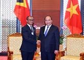 Le PM reçoit le ministre des Affaires étrangères et de la Coopération du Timor-Est