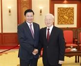 Le chef du PCV reçoit le Premier ministre laotien