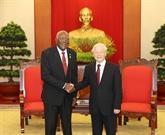 Le chef du PCV affirme la promotion des relations spéciales Vietnam - Cuba
