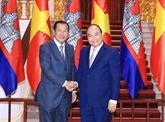 Le Premier ministre vietnamien reçoit son homologue cambodgien