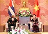 La présidente de l'AN rencontre le premier vice-président cubain