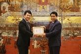Le diplomate japonais Katsuro Nagai reçoit le titre