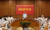 Le Comité central de pilotage pour la réforme judiciaire tient sa 6e réunion