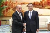 Le PM chinois rencontre le ministre français des AE à Beijing