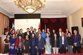 Dang Thi Ngoc Thinh rencontre la communauté des Vietnamiens en Russie