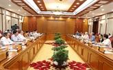 Avis du Politburo sur les projets à soumettre au 8e plénum du CC du PCV