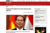 Les médias internationaux annoncent le décès du président vietnamien Trân Dai Quang