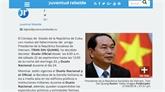 Les hommages affluent après le décès du président Trân Dai Quang