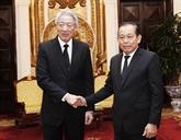 Le vice-PM Truong Hoà Binh reçoit son homologue singapourien Teo Chee Hean