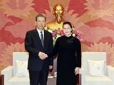 La présidente de l'Assemblée nationale reçoit un dirigeant chinois
