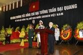 Cérémonie commémorative en la mémoire du président Trân Dai Quang