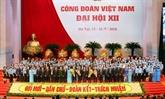 Clôture du XIIe Congrès syndical national du Vietnam