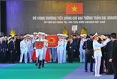 La cérémonie d'enterrement du président Trân Dai Quang à Ninh Binh