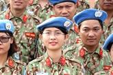 Les forces de maintien de la paix du Vietnam prêtes à partir au Soudan du Sud