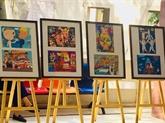 Remise des prix du concours de peinture sur le Vietnam et la Russie