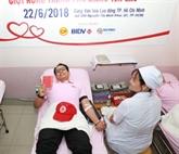 Des ressortissants étrangers donnent aussi leur sang au Vietnam