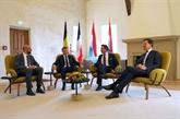 Les dirigeants du Benelux et de la France s'entretiennent au Luxembourg
