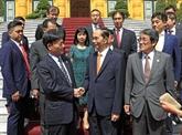 Le président Trân Dai Quang reçoit le conseiller spécial du groupe japonais Mainichi