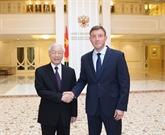 Le chef du PCV rencontre le vice-président du Conseil de la Fédération de Russie