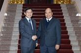 Le Premier ministre Nguyên Xuân Phuc reçoit le président du groupe Samsung