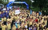La marche philanthropique Lawrence S.Ting à Hô Chi Minh-Ville