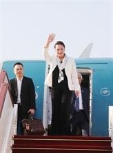 La présidente de l'AN arrive à Siem Reap pour la FPAP-27