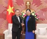 Une délégation de l'agence de presse laotienne KPL en visite au Vietnam