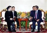 Entrevue entre la présidente de l'AN vietnamienne et le PM cambodgien