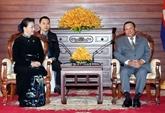 Entrevue entre Nguyên Thi Kim Ngân et Samdech Say Chhum