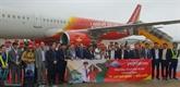 Inauguration d'une ligne aérienne entre Hô Chi Minh-Ville et Vân Dôn