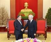 Le secrétaire général du PCV et président du Vietnam reçoit le vice-PM et ministre thaïlandais de la Défense