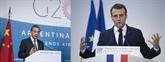 Le president français reçoit le chef de la diplomatie chinoise à l'Élysée