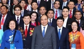 Rencontre du PM avec desViêt kiêude retour au pays pour le Têt