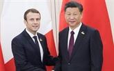 Xi et Macron échangent leurs félicitations pour le 55e anniversaire des relations sino-françaises