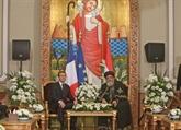 Égypte: nouvel entretien Macron-Sissi, visite aux chefs religieux